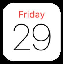 Calendar app for iOS