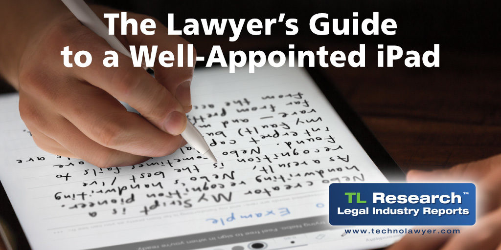 """Free E-Book from TechnoLawyer: """"The Lawyer's Guide to a Well"""
